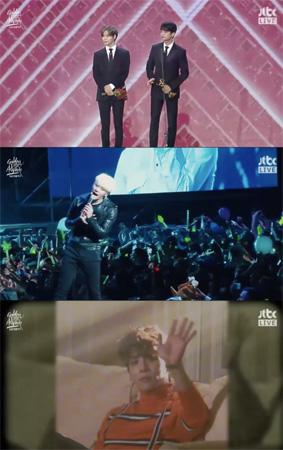 故ジョンヒョン(SHINee)さん、ゴールデンディスク本賞受賞…ミンホ&テミンが代理登壇(提供:OSEN)