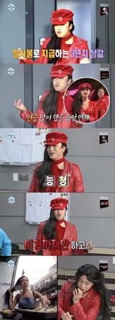 韓国俳優イ・シオンが、ガールズグループ「MAMAMOO」メンバーのファサに変身した。(提供:OSEN)