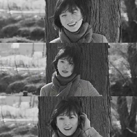 韓国女優ソン・ヘギョのかわいらしい笑顔の写真が話題になっている。(写真提供:OSEN)