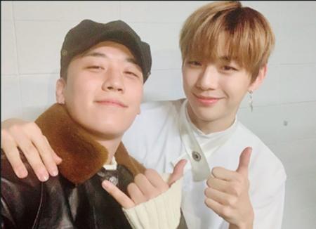 V.I(BIGBANG)とカン・ダニエル(Wanna One)、2大ビッグアイドルの2ショットが話題(画像:OSEN)