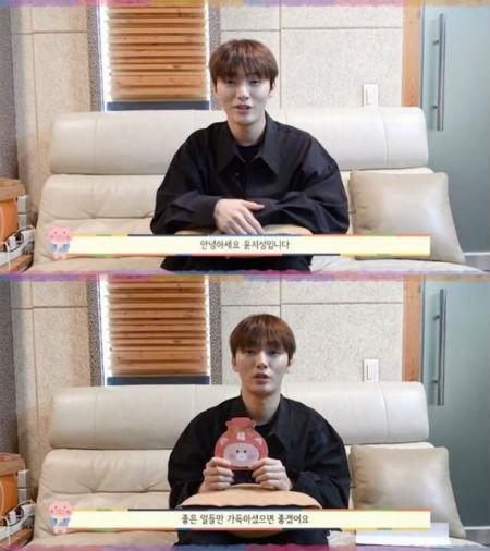 公式SNSを通じて、新年のあいさつ映像をアップしたユン・ジソン。(提供:OSEN)