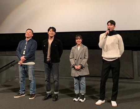 映画「証人」出演のチョン・ウソン、公開前の舞台挨拶に登場 「感情を十分に伝えられるよう努力した」(画像:OSEN)