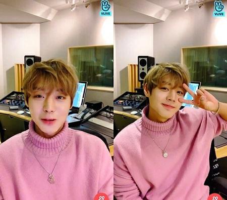 韓国プロジェクトグループ「Wanna One」で活動していたパク・ジフンが、同じく元メンバーのイ・デフィが作曲した歌でレコーディングしていることを明らかにした。(写真提供:OSEN)