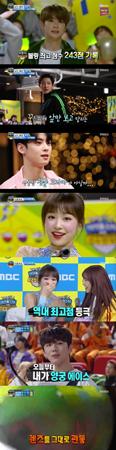 韓国ボーイズグループ「EXO」メンバーのCHANYEOLと、「NCT 127」メンバーのジェヒョンがボーリングの決勝戦進出を決めた。(提供:OSEN)
