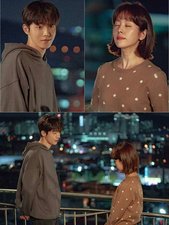 韓国女優ハン・ジミンと俳優ナム・ジュヒョクが、ロマンティックなケミストリーを見せる。(写真提供:OSEN)