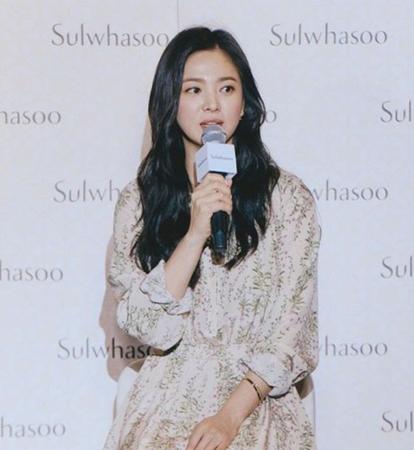 韓国女優ソン・ヘギョがシンガポールで開催されたイベントに出席し、今後の計画について語った。(写真提供:OSEN)