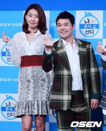 韓国で大注目のカップル、タレントのチョン・ヒョンム(41)とモデルのハン・ヘジン(35)が破局した。(提供:OSEN)