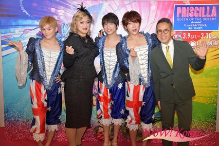 左から古屋敬多、陣内孝則、山崎育三郎、ユナク(SUPERNOVA)、宮本亜門
