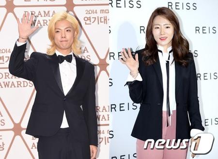 韓国歌手KangNam(31)とスピードスケート選手イ・サンファ(30)が熱愛を認めた。(提供:news1)
