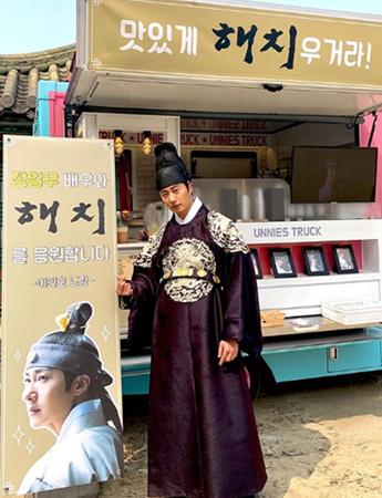 韓国俳優チョン・イルが、親友で俳優のイ・ミンホからの差し入れに感謝した。(写真提供:OSEN)