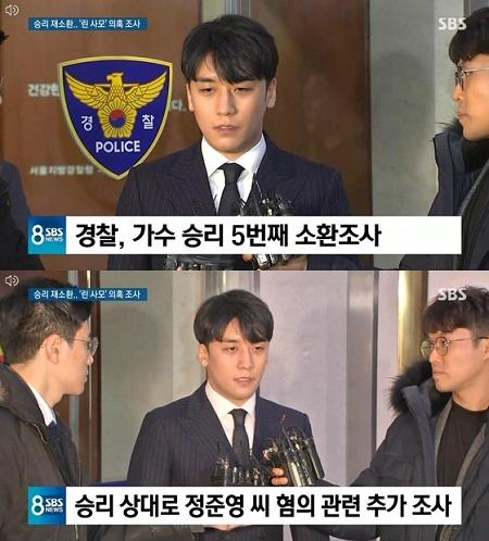 韓国人気グループ「BIGBANG」元メンバーのV.I(スンリ、28)が警察に非公開で召喚され、また取り調べを受けたことがわかった。(提供:news1)