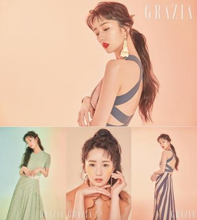 韓国ガールズグループ「Apink」メンバーのボミが、魅惑的なグラビアを公開した。(写真提供:OSEN)