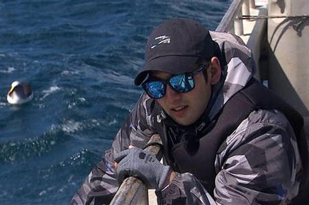 SBS「ジャングルの法則 in チャタム諸島」では、船に乗ってチャタムの海に出撃した(提供:OSEN)