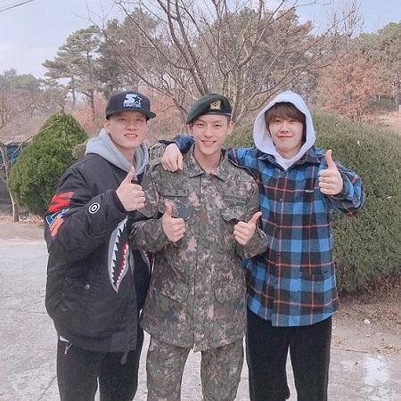 韓国アイドルグループ「BTOB」イ・ミンヒョクが入隊後初の近況を伝えた。(提供:OSEN)