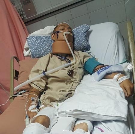 「SHOW ME THE MONEY6」出演のKK、海外プールで負傷し全身麻痺…医療費援助を要請(画像:KKのInstagram)