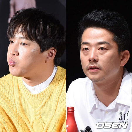 韓国タレントのキム・ジュノと俳優チャ・テヒョンが賭けゴルフに関する疑惑について警察の事情聴取を受けた。(提供:OSEN)
