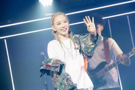 「少女時代」テヨンが13日、福岡サンパレスで、日本初ソロツアーの幕を開けた。(提供:OSEN)