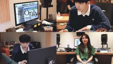 「VIXX」ヒョギが新曲の作業記映像を公開した。(提供:OSEN)