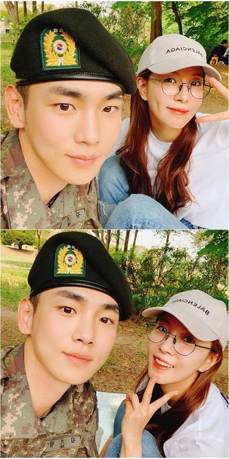 BoA、軍服務中の親友キー(SHINee)の面会に=「軍服もよく似合う」(提供:news1)