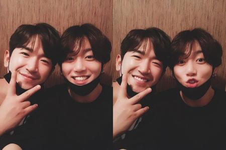 韓国ボーイズグループ「SHINHWA」のミヌと、「防弾少年団」のJUNG KOOKが、年齢を超えた友情を見せつけた。(提供:OSEN)