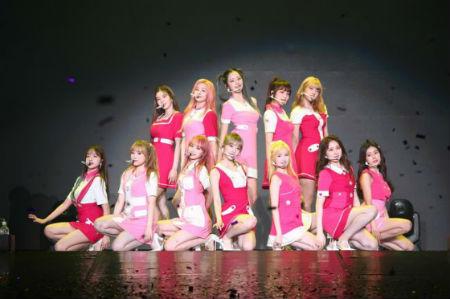 29日、台湾・台北で単独コンサートを開催した「IZ*ONE」。(提供:OSEN)