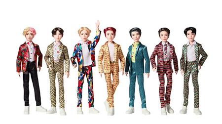 韓国ショッピングモールサイトGmarketは、アメリカの玩具会社マテルが制作した「BTS 公式フィギュア」を17日から予約販売を開始することを発表した。(提供:news1)