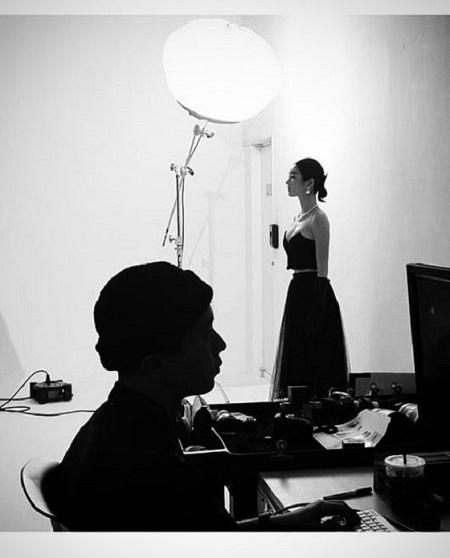 女優のソ・イェジが、白黒写真で美しさをアピールした。(提供:OSEN)