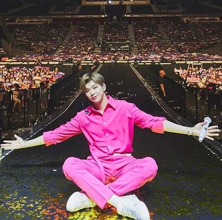 歌手カン・ダニエルが、シンガポールのファンに感謝を伝えた。(提供:OSEN)