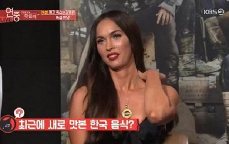 """ハリウッド女優ミーガン・フォックスが、韓国料理の""""ソルロンタン""""を絶賛した。(提供:news1)"""