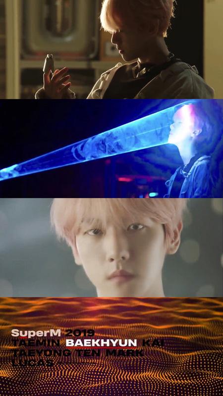 "「SuperM」BAEK HYUN(EXO)、トレーラー映像を公開! ""強烈な眼差し&夢幻的な雰囲気""(提供:OSEN)"
