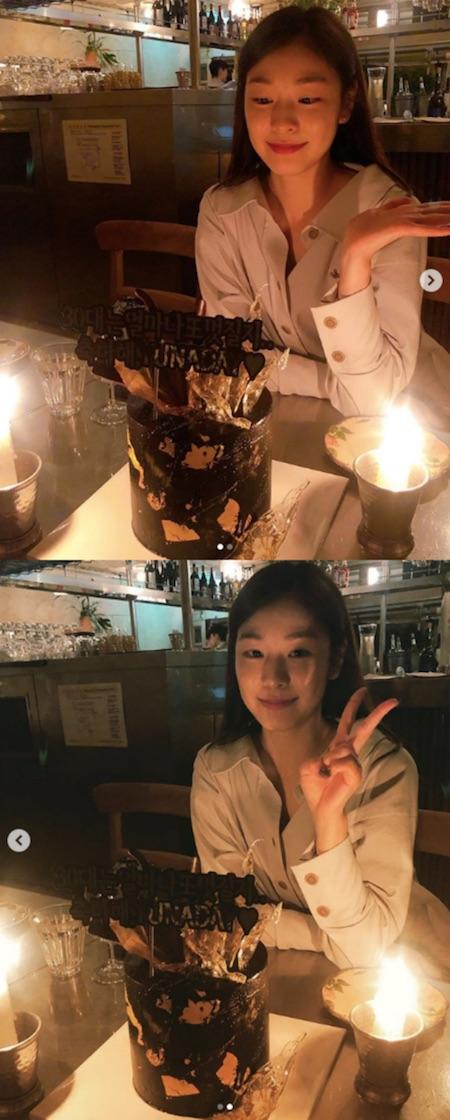 """キム・ヨナ """"女神の微笑み""""、三十歳の誕生日でも変わらない美貌(提供:Osen)"""