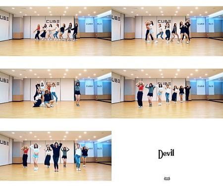 「CLC」が中毒性あふれるダンスの練習映像を公開した(提供:OSEN)