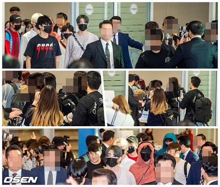 札幌で行われた「KMF2019」での出演を終えた「X1」メンバーらが18日、仁川国際空港に到着した。(提供:OSEN)