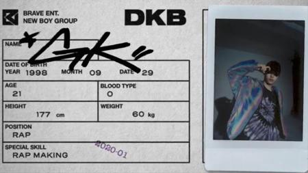 来年上半期の特級新人「DKB」、個人フィルム通じて5人目のメンバーGKを公開。スピーディーでパワフルなラップが持ち味で「嵐のようなラップ」とともに登場したGK! (提供:WoW! Korea)